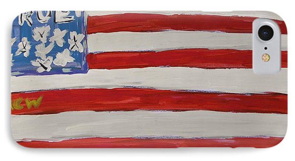 True Flag IPhone Case by Mary Carol Williams
