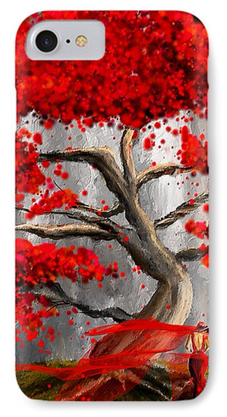 True Love Waits - Red And Gray Art IPhone Case
