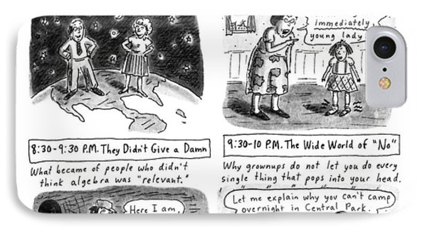 Truly Educational Children's Programming IPhone Case by Roz Chast