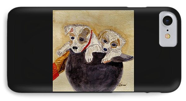 IPhone Case featuring the painting Trump And Tillie by Angela Davies