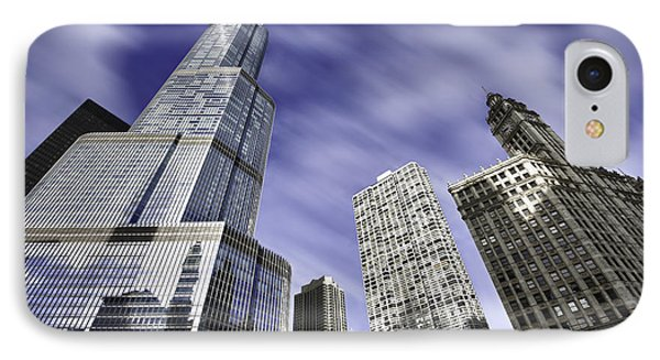 Trump Tower And Wrigley Building IPhone Case by Sebastian Musial