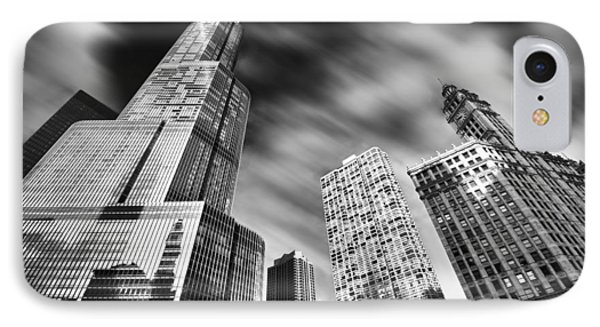 Trump Tower In Black And White IPhone Case by Sebastian Musial