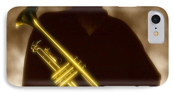 Man Holding Trumpet 1 IPhone Case
