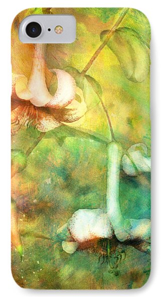 Trumpet Lilies In A Magical Forest IPhone Case by Georgiana Romanovna