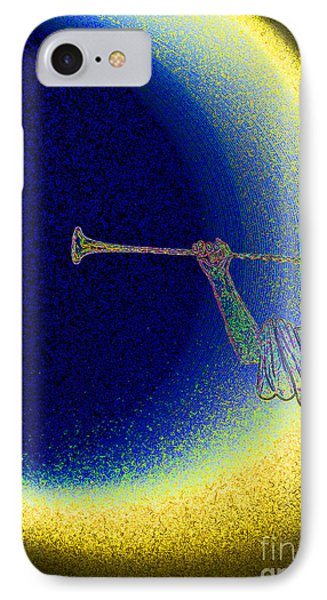 Trumpet Moon Phone Case by First Star Art