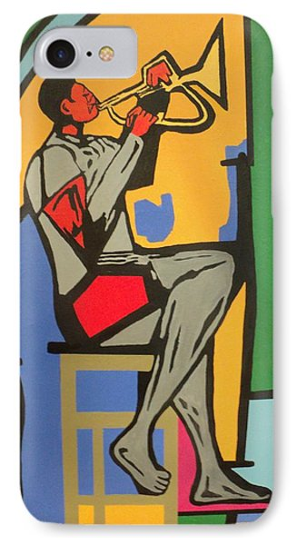 Trumpet Player IIi IPhone Case by Angelo Thomas