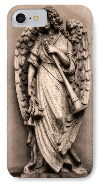Trumpeter Angel Phone Case by Tom Mc Nemar