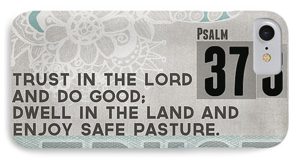 Trust In The Lord- Contemporary Christian Art IPhone Case