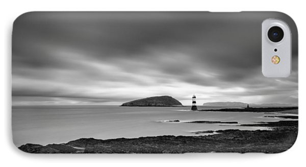 Trwyn Du Lighthouse 1 IPhone Case by Dave Bowman