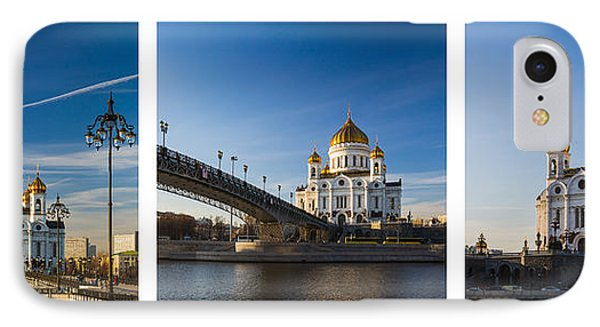 Tryptich - Cathedral Of Christ The Savior Of Moscow City - Features 3 Phone Case by Alexander Senin