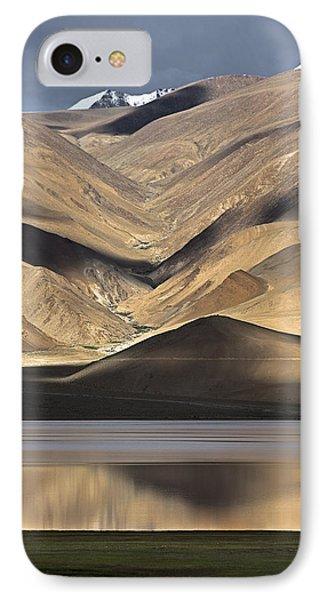 Golden Light Tso Moriri, Karzok, 2006 IPhone Case by Hitendra SINKAR
