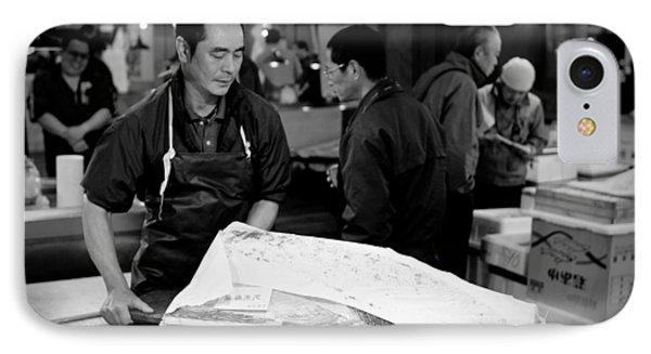 Tsukiji Tokyo Fish Market IPhone Case by Sebastian Musial
