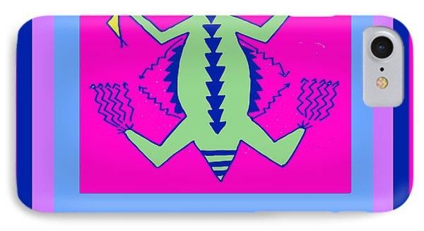 IPhone Case featuring the digital art Tucson Arizona Shaman by Vagabond Folk Art - Virginia Vivier
