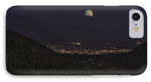 IPhone Case featuring the photograph Tucson At Dusk by Lynn Geoffroy