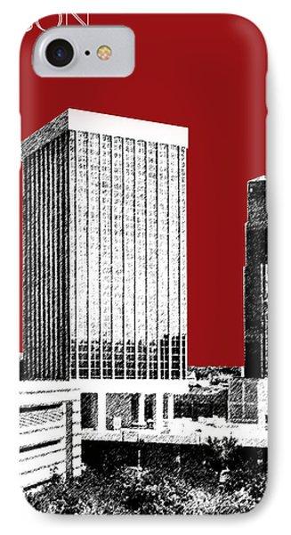 Tucson Skyline 1 - Dark Red IPhone Case by DB Artist