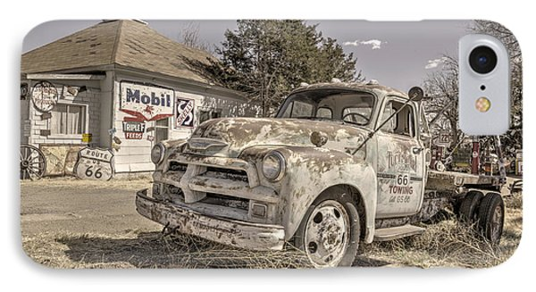 Tucumcari Tow Truck IPhone Case by Rob Hawkins