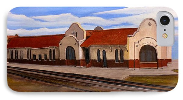 Tucumcari Train Depot IPhone Case