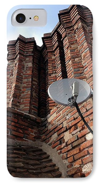 Tudor Chimneys With Satellite Dish IPhone Case by Cordelia Molloy