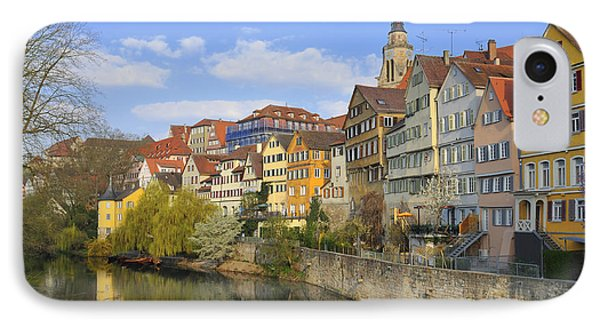 Tuebingen Neckarfront With Beautiful Old Houses IPhone Case by Matthias Hauser