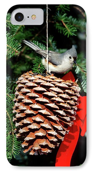 Tufted Titmouse (baeolophus Bicolor IPhone Case by Richard and Susan Day