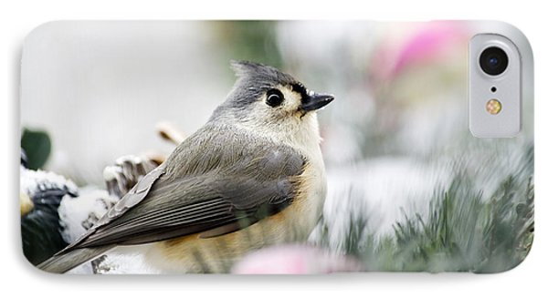 Tufted Titmouse Portrait Phone Case by Christina Rollo