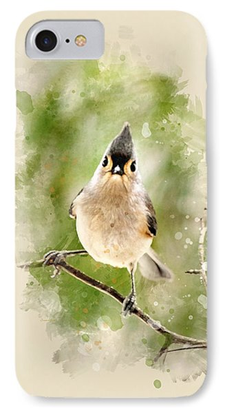 Tufted Titmouse - Watercolor Art Phone Case by Christina Rollo