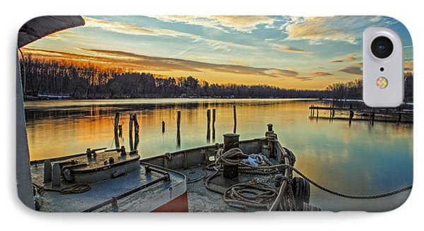 Tug At Sunrise IPhone Case by Everet Regal