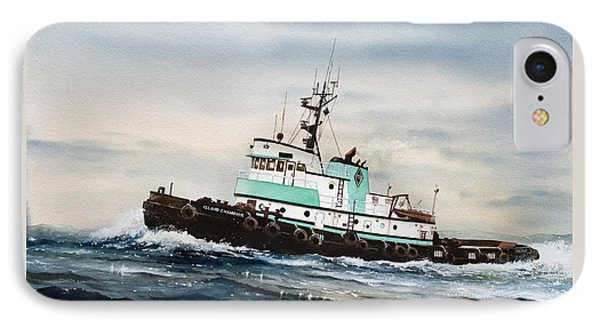 Tugboat Island Champion IPhone Case by James Williamson