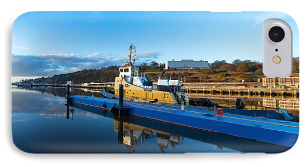 Tugboat Moored At The River Suir IPhone Case by Panoramic Images