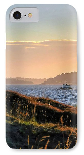 Tugboat Twilight - Chambers Bay Golf Course IPhone Case by Chris Anderson