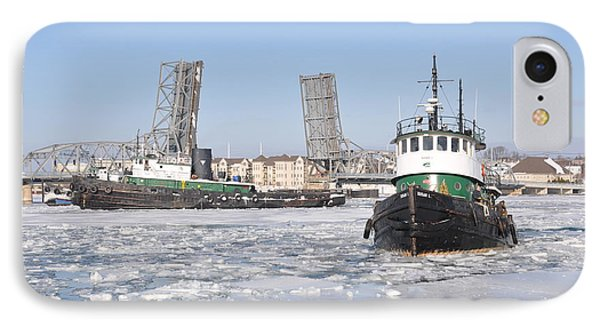 Tugs In The Harbor IPhone Case