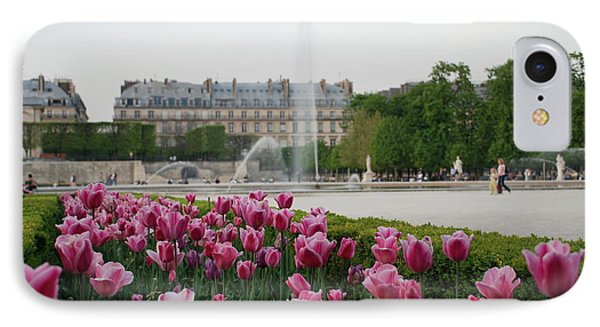 Tuileries Garden In Bloom IPhone Case by Jennifer Ancker