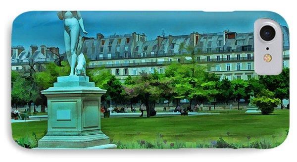 Tuileries Gardens Phone Case by Allen Beatty