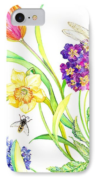 Tulip And Dragonfly IPhone Case by Kimberly McSparran