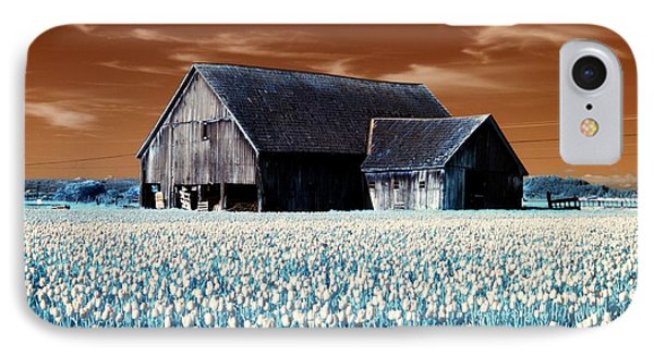 Tulip Barn IPhone Case by Rebecca Parker