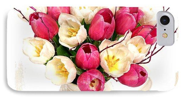 Tulip Blooms Phone Case by Debra  Miller