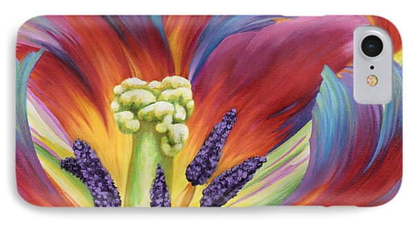 IPhone Case featuring the painting Tulip Color Study by Jane Girardot