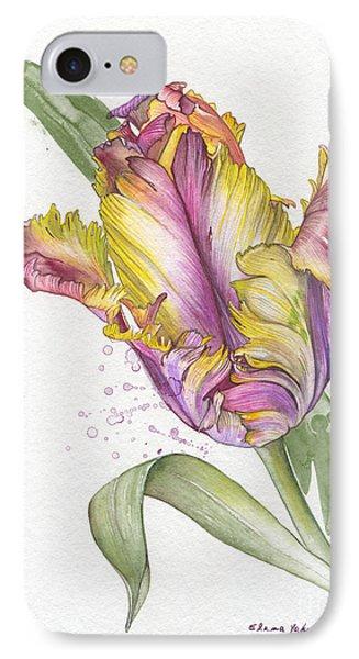 IPhone Case featuring the painting Tulip -  Elena Yakubovich by Elena Yakubovich