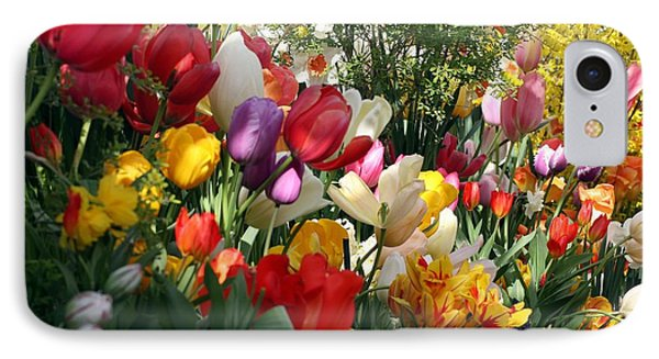 Tulip Festival IPhone Case by Mary Lou Chmura