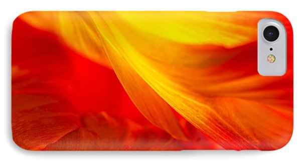 Tulip Flame IPhone Case by Joan Herwig