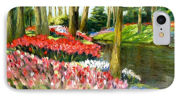 IPhone Case featuring the painting Tulip Gardens by Lori Ippolito