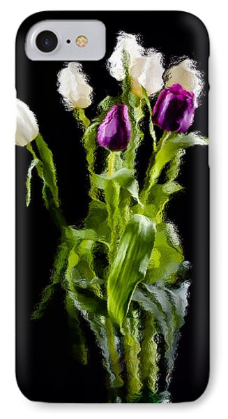 Tulip Impressions II IPhone Case by Penny Lisowski