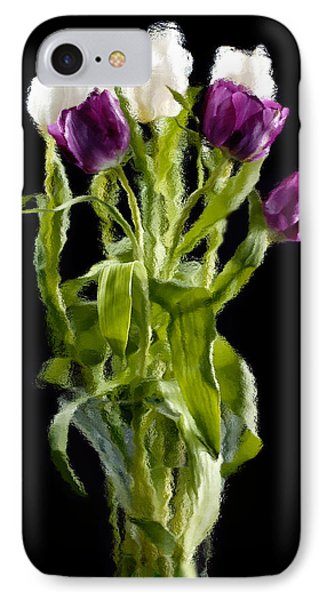 Tulip Impressions IIi IPhone Case by Penny Lisowski