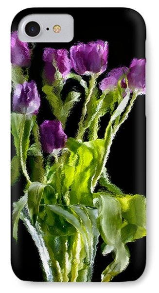 Tulip Impressions Vi IPhone Case by Penny Lisowski