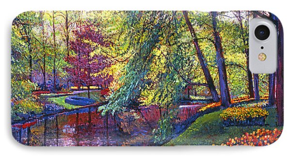 Tulip Park Phone Case by David Lloyd Glover