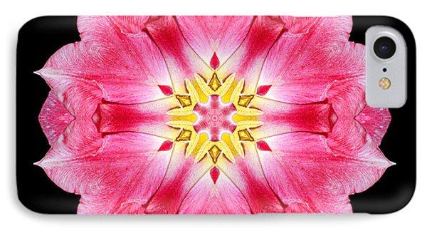 Tulip Peach Blossom IIi Flower Mandala Phone Case by David J Bookbinder