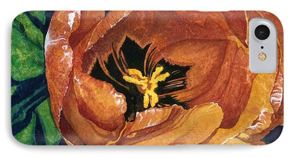 IPhone Case featuring the painting Tulip Swirl by Barbara Jewell