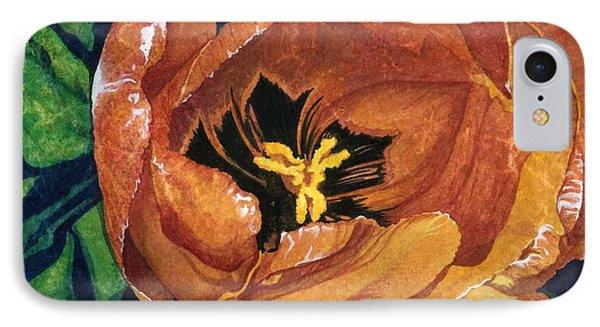 Tulip Swirl IPhone Case by Barbara Jewell