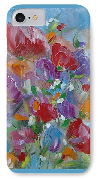 IPhone Case featuring the painting Tulip Symphony by Judith Rhue