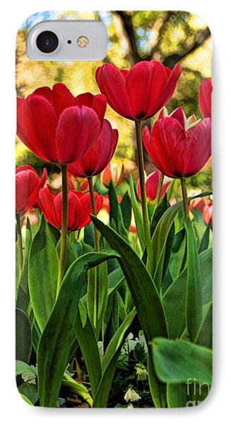 Tulip Time Phone Case by Peggy Hughes